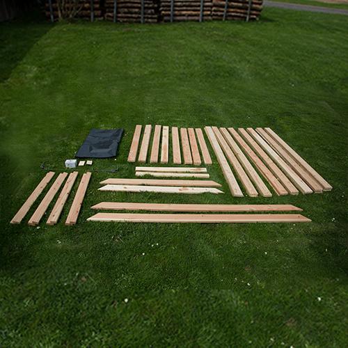 Bausatz für Hochbeet aus Lärchenholz, 200 x 120 x 80 cm (BxLxH)